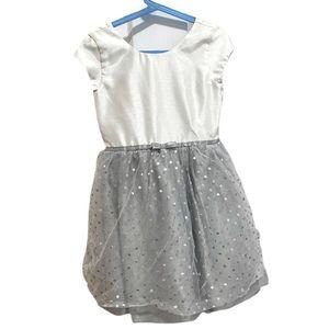 Gymboree 7 polka dot sparkle dress